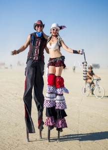 out for a walk on the playa...